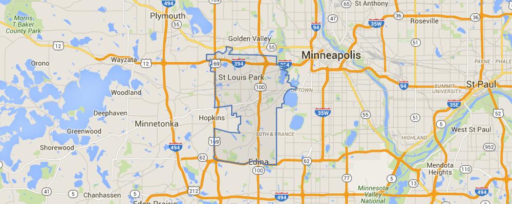 Map of Saint Louis Park, Minnesota