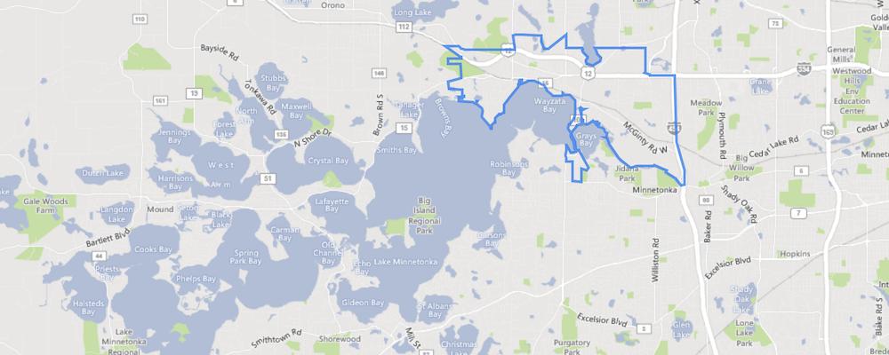 Map of Wayzata, Minnesota