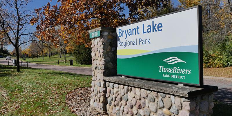 Bryant Lake Regional Park Sign, Eden Prairie, MN
